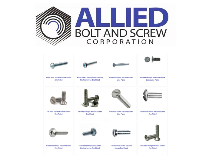 Machine Screws - Allied Bolt is the top supplier of Machine Screws